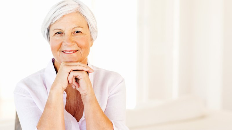 An older woman with osteoporosis is happy she received treatment from CoxHealth.