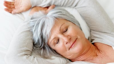 A woman sleeps soundly after having treatment from CoxHealth sleep disorder services.