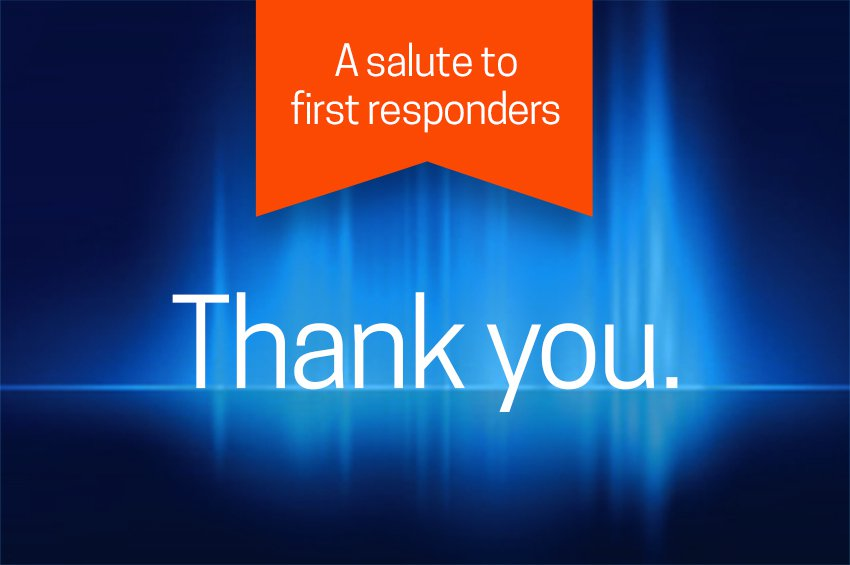 An image for CoxHealth's Salute to First Responders.