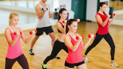 People enjoy exercise classes at Cox Fitness Center Branson.
