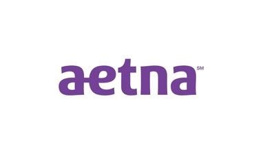The logo for Aetna is shown in light of the new partnership.