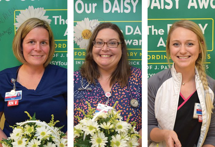 Three individuals were honored as recent DAISY Award honorees.