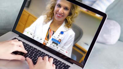 A CoxHealth provider delivers a virtual visit.