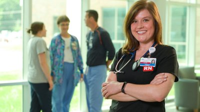 A nurse is happy with her residency at CoxHealth.